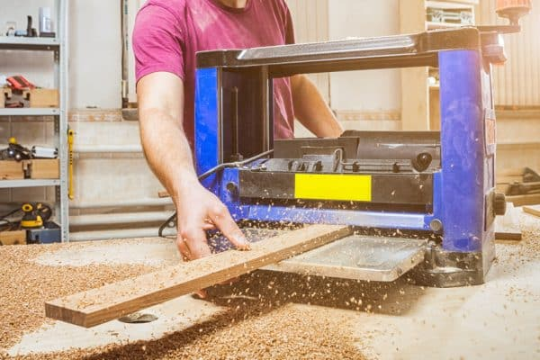 What is a thickness planer used for?